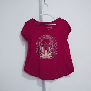 Lucky brand Dusty rose with studs details t shirt